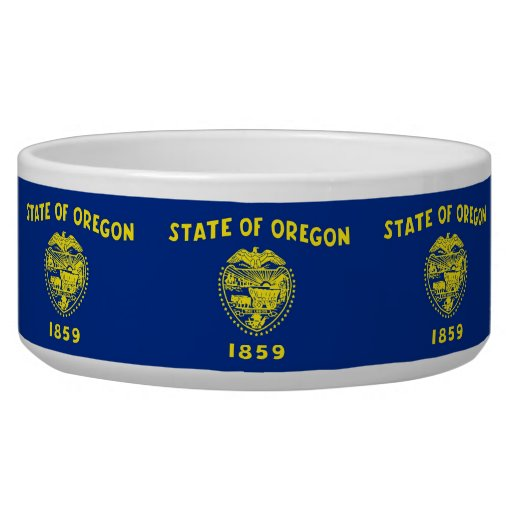 Oregon State Flag Pet Bowl