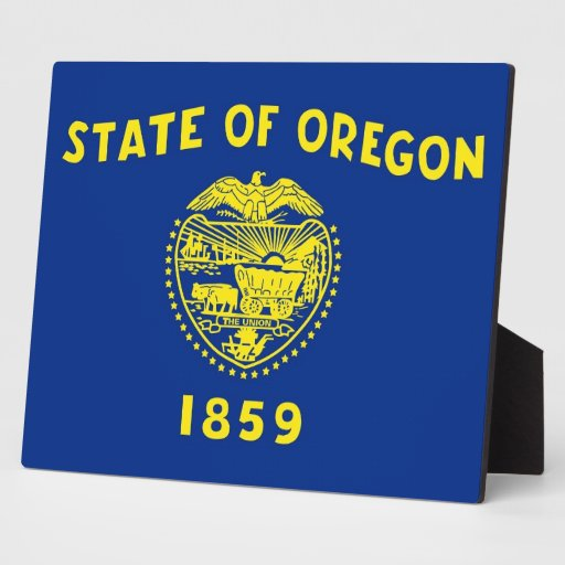Oregon State Flag Plaque