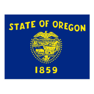 Oregon State Flag Postcard