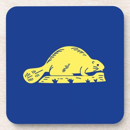Oregon State Flag (reverse) Drink Coaster