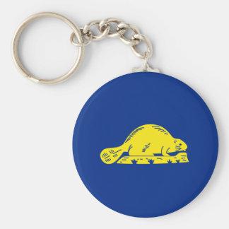 Oregon State Flag (reverse) Keychains