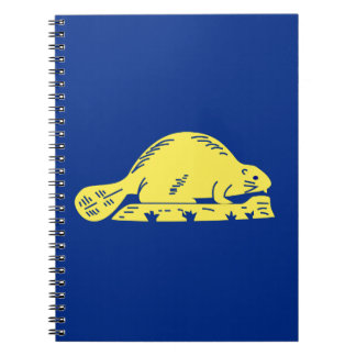 Oregon State Flag (reverse) Spiral Note Book