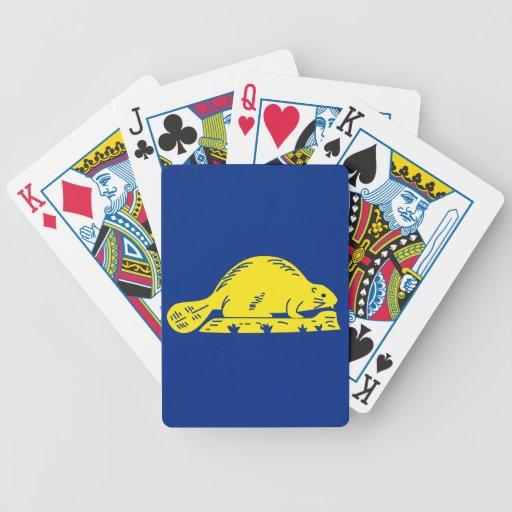Oregon State Flag (reverse) Poker Cards