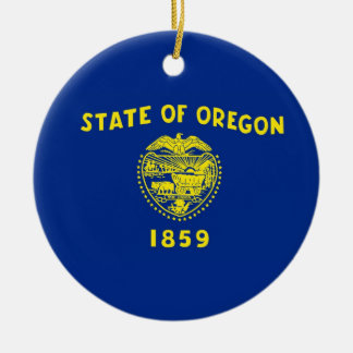 Oregon State Flag Round Ceramic Decoration