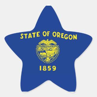 Oregon State Flag Star Sticker