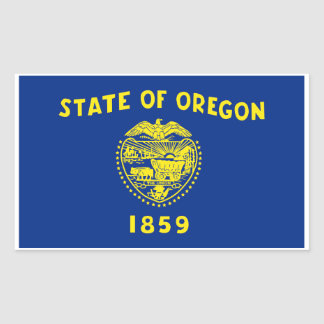 Oregon State Flag Sticker - 4 per sheet