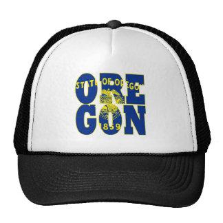 Oregon state flag text mesh hat
