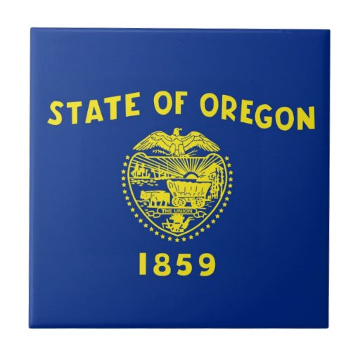 Oregon State Flag Ceramic Tile