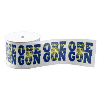 Oregon state flag typography design grosgrain ribbon