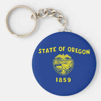 oregon state flag united america republic symbol basic round button key ring