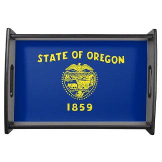 oregon state flag united america republic symbol serving trays