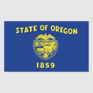 Oregon State Flag, United States Rectangular Sticker