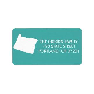 Oregon State Return Address Labels - Turquoise