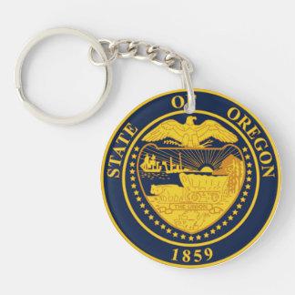 Oregon state seal america republic symbol flag Double-Sided round acrylic key ring