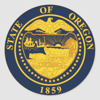 Oregon State Seal Stickers