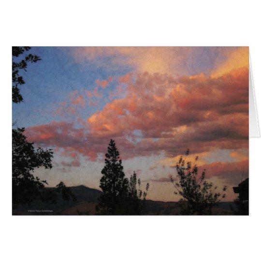 Oregon Sunset Blank Card