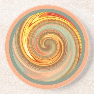 Oregon Sunset Spiral Fractal Coaster
