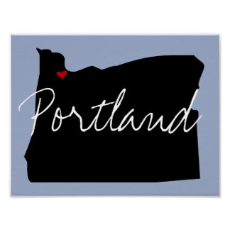 Oregon Town Poster