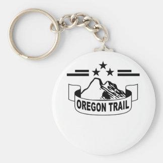 Oregon Trail ;' Basic Round Button Key Ring