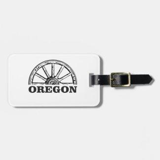 oregon trail simple wheel luggage tag