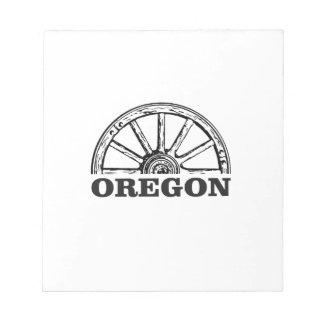 oregon trail simple wheel notepad