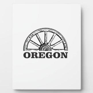 oregon trail simple wheel plaque
