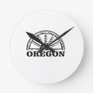 oregon trail simple wheel round clock
