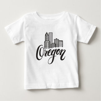 Oregon Typography Design Baby T-Shirt