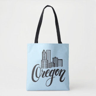 Oregon Typography Design Tote Bag