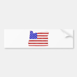 Oregon USA flag silhouette state map Bumper Stickers