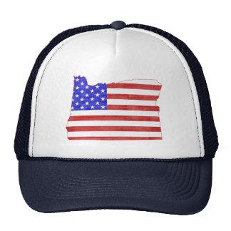 Oregon USA flag silhouette state map Mesh Hat
