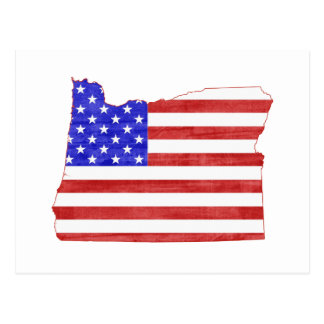 Oregon USA flag silhouette state map Post Cards