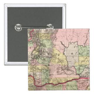 Oregon, Washington 15 Cm Square Badge