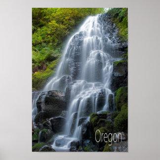 Oregon waterfall poster