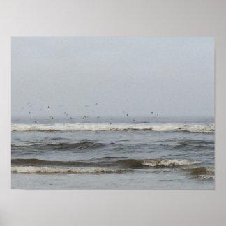 Oregon Waves Poster