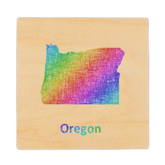 Oregon Wood Coaster