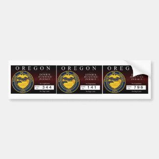 Oregon Zombie Hunting Permit V.2 Bumper Stickers