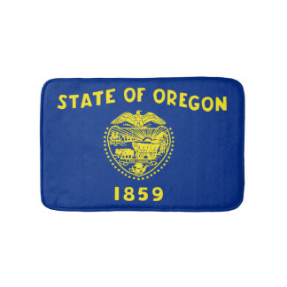 Oregonian flag, American state flag Bath Mat