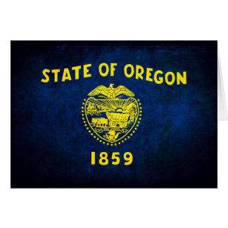 Oregonian Flag; Note Card