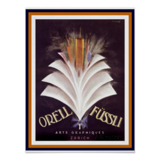 Orell Fussli 12 x 16 Poster