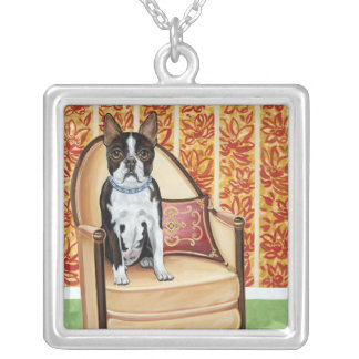 Oreo Cookie Boston Square Pendant Necklace