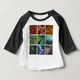 """Orgaenica"" Fractal Polyptych Baby Shirt"