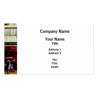 Organ and Swivel Stool Business Card Template