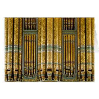 Organ Birmingham Town Hall, UK greeting card