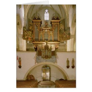 Organ, c.1618 card