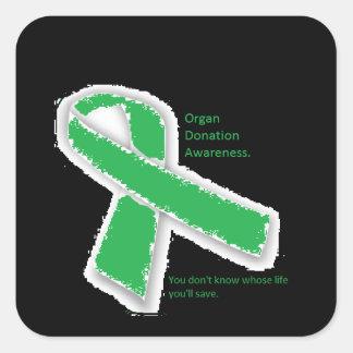 Organ Donation Awareness Square Sticker