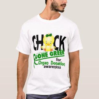 Organ Donation Chick Gone Green 2 T-Shirt