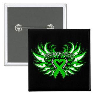 Organ Donor Awareness Heart Wings Pinback Button