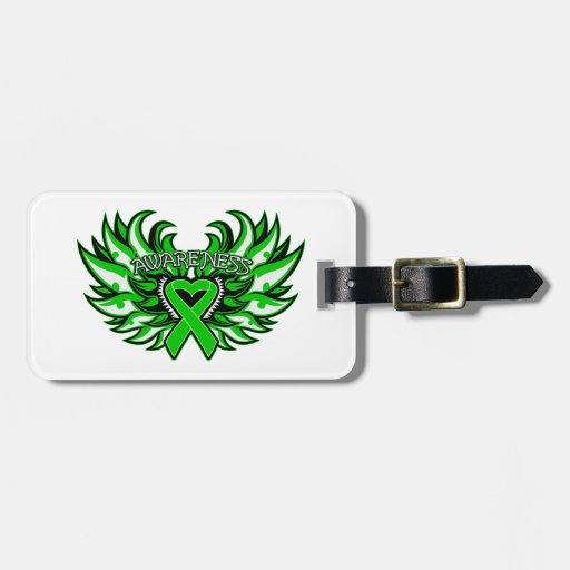 Organ Donor Awareness Heart Wings Travel Bag Tags