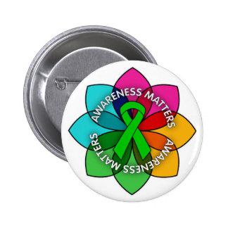 Organ Donor Awareness Matters Petals Pinback Buttons